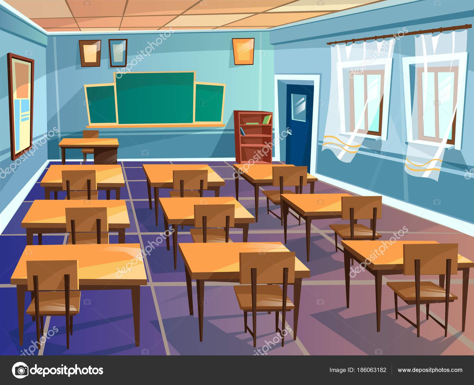 학교 또는 대학 교실 벡터 만화 스톡 벡터 169 Vectorpouch 186063182