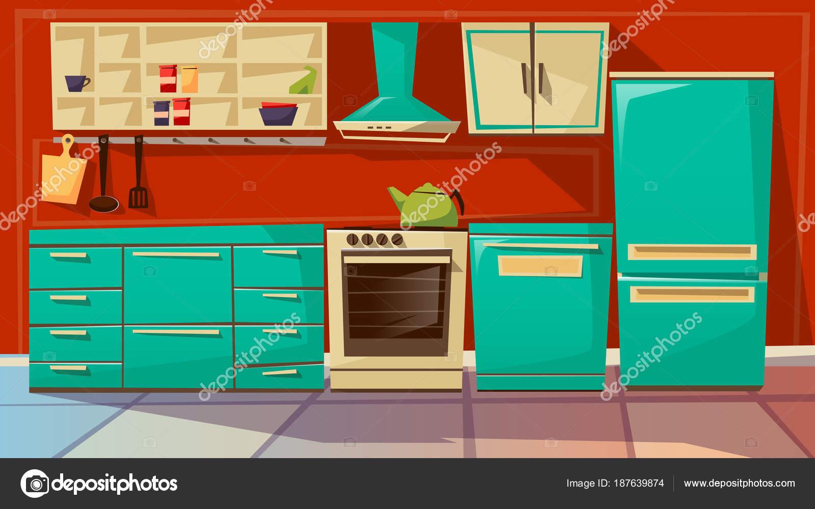 Dibujos: muebles de cocina | Ilustración de dibujos animados de ...