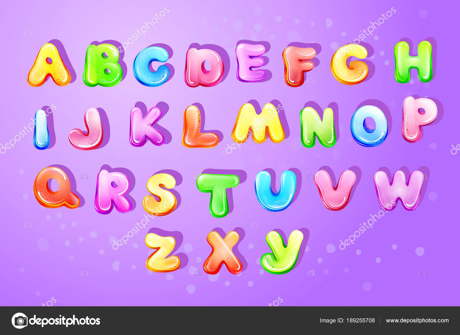 vector colorful kids english alphabet children font template preschool kindergarten game typography latin text design glossy bubble style letter