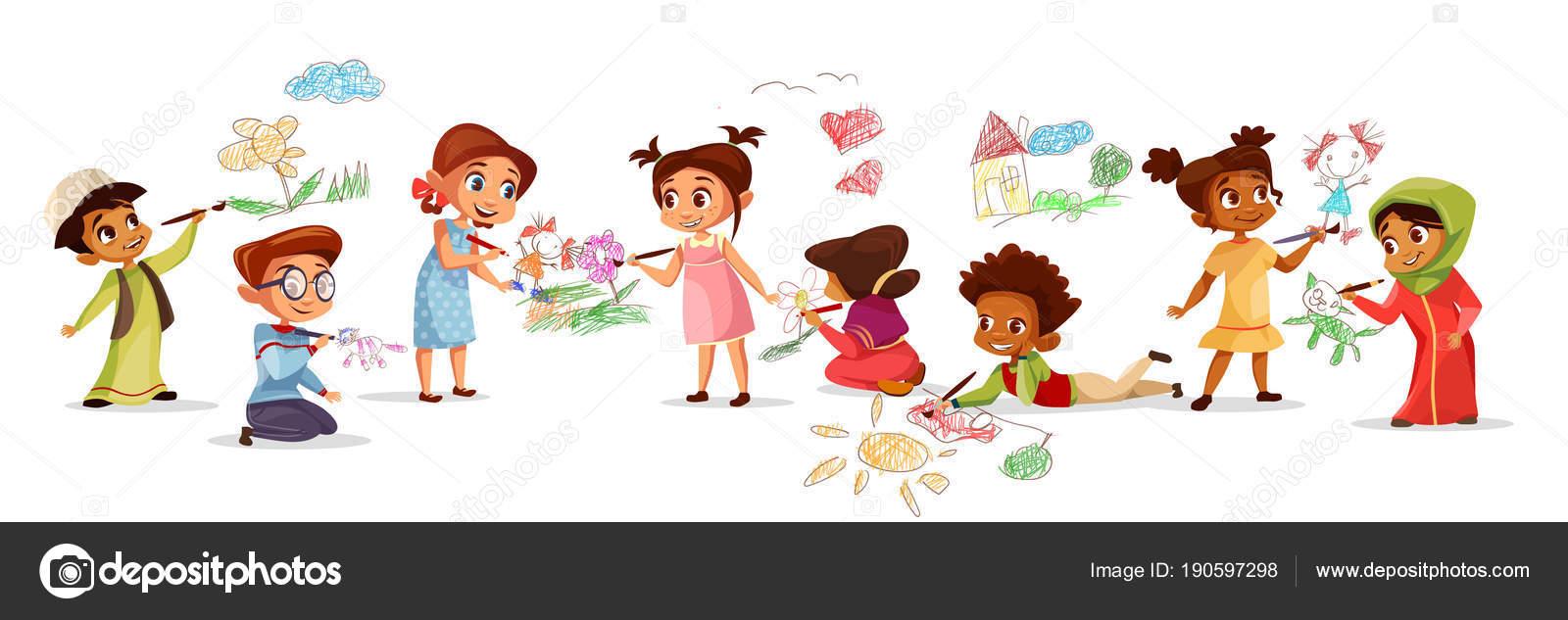 Dibujos De NiÑos Por Nacionalidades: Dibujos: Niños Y Niñas A Color