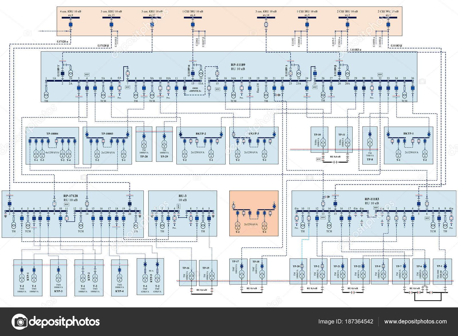 Schema Di Cablaggio : Schema cablaggio elettrico trasformatori potenza u foto stock