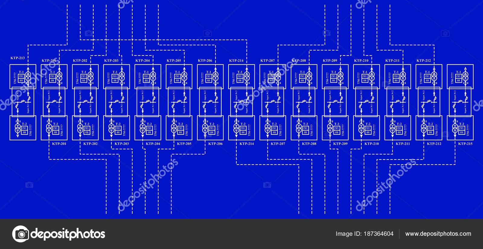 Schema Cablaggio Rete : Schema cablaggio elettrico trasformatori potenza u2014 foto stock