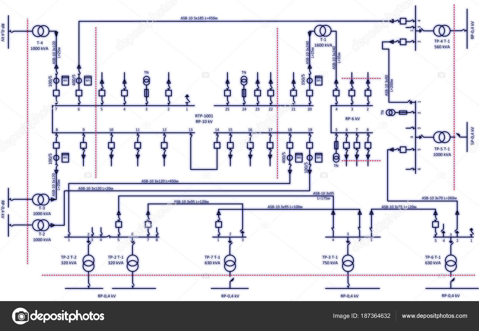 Schema Elettrico City : Schema cablaggio elettrico trasformatori potenza u foto stock