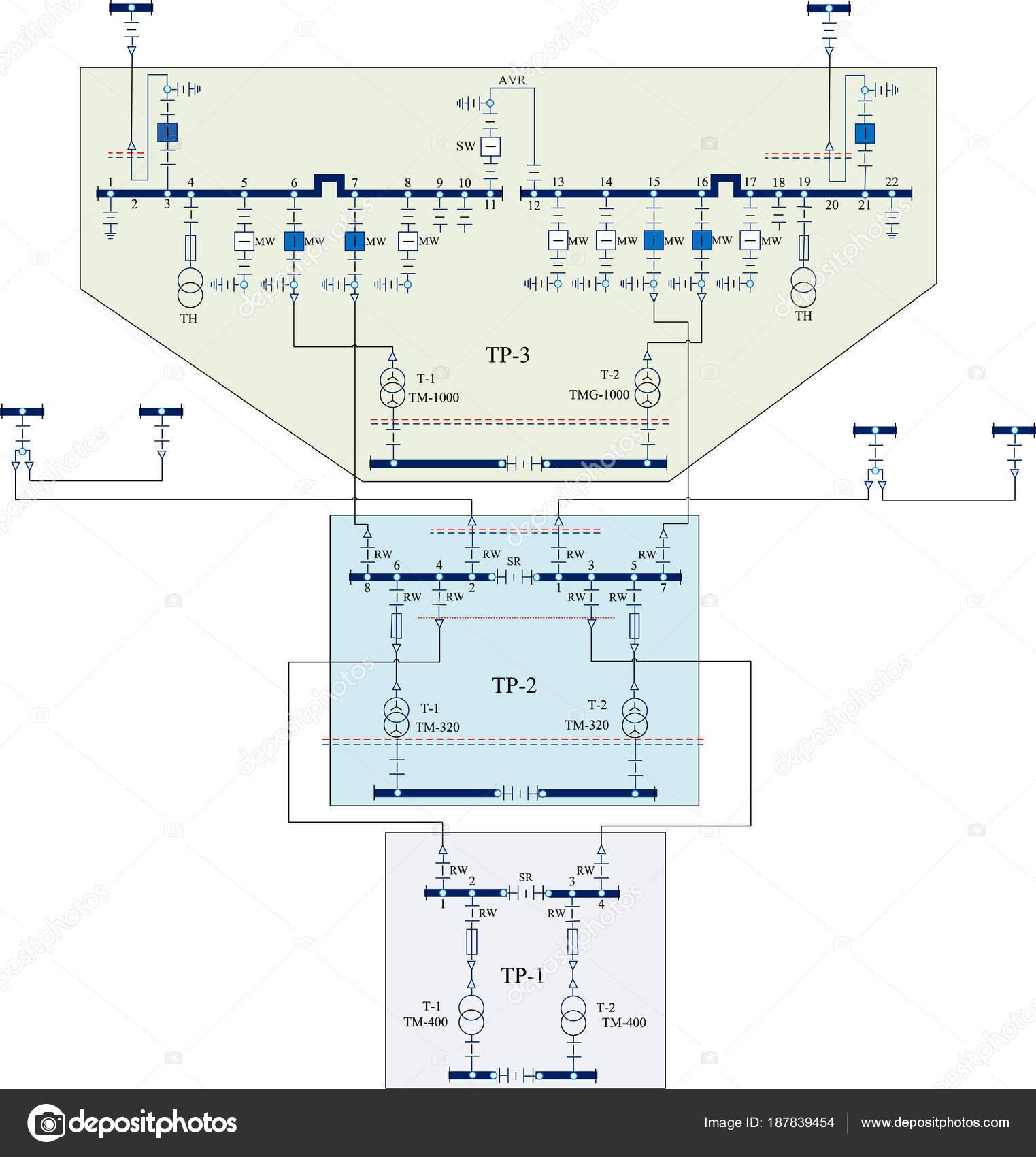Electric Wiring Diagram Power Transformers Stock Vector Mcircle Transformer