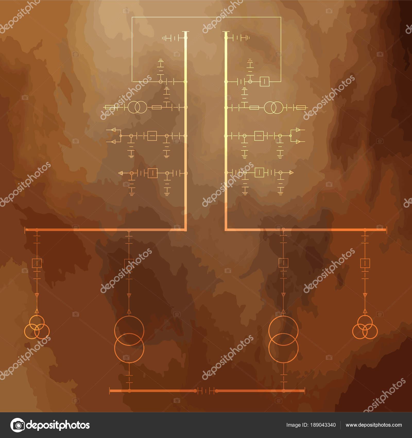 Schema Elettrico Per Orang : Schema cablaggio elettrico trasformatori potenza u vettoriali