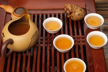 . Chinese tea culture refers to how tea is prepared as well as the occasions when people consume tea in China stock vector