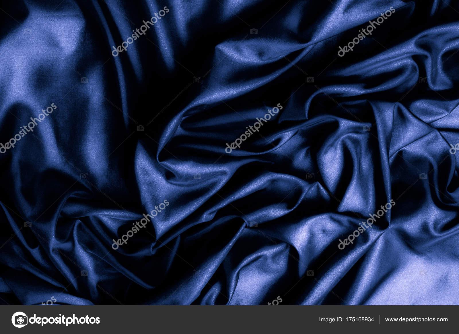 Texture Background Pattern Dark Blue Silk Fabric Designer
