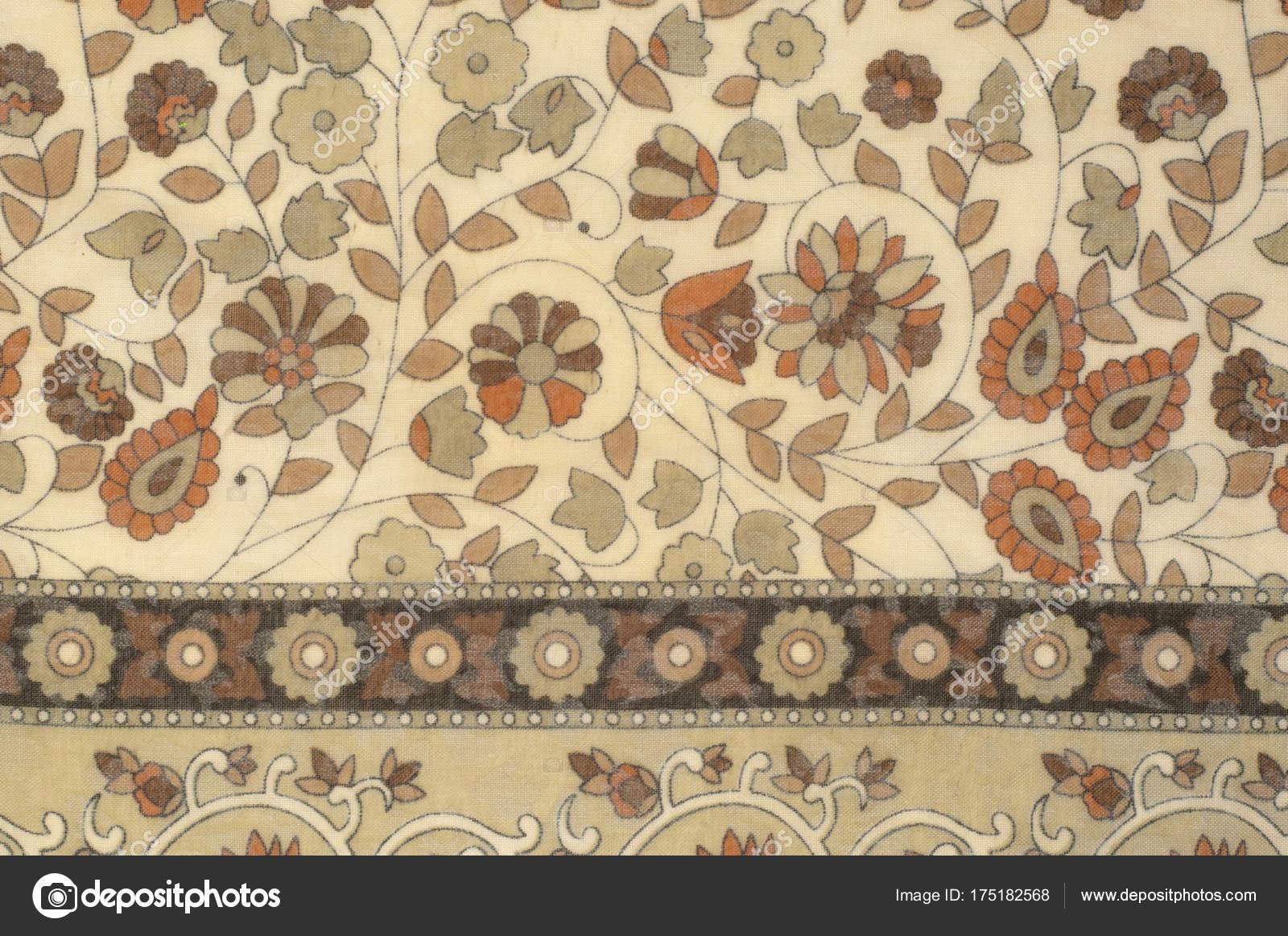 Hintergrundtextur, Muster. Stoff Beige mit floralem Muster ...