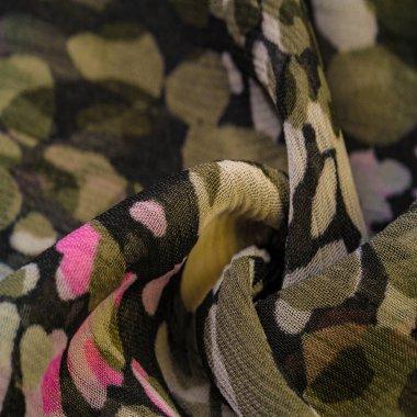 Textured design, silk fabric, women's scarf, white pink red-brow