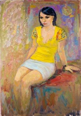 "Картина, постер, плакат, фотообои ""этнография, м.ш. хазиев. картина художника, написанная маслами. fema поп"", артикул 332684352"