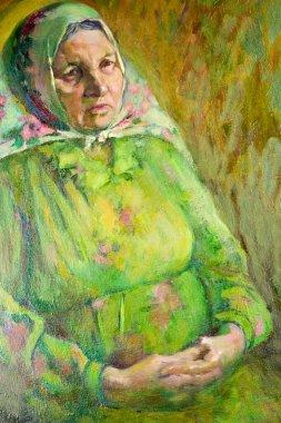 "Картина, постер, плакат, фотообои ""этнография, м.ш. хазиев. картина художника, написанная маслами. fema портрет фото заказ"", артикул 332686128"