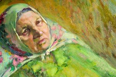 "Картина, постер, плакат, фотообои ""этнография, м.ш. хазиев. картина художника, написанная маслами. fema поп"", артикул 332686166"