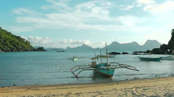 Landscape Of The Beach Of Nacpan The Island Of Palawan Philippines
