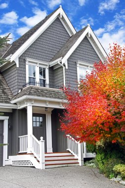 Canadian house in fall