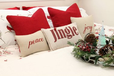 Christmas bedroom cushions