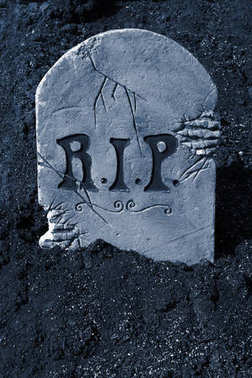 Rest in peace Halloween tombstone