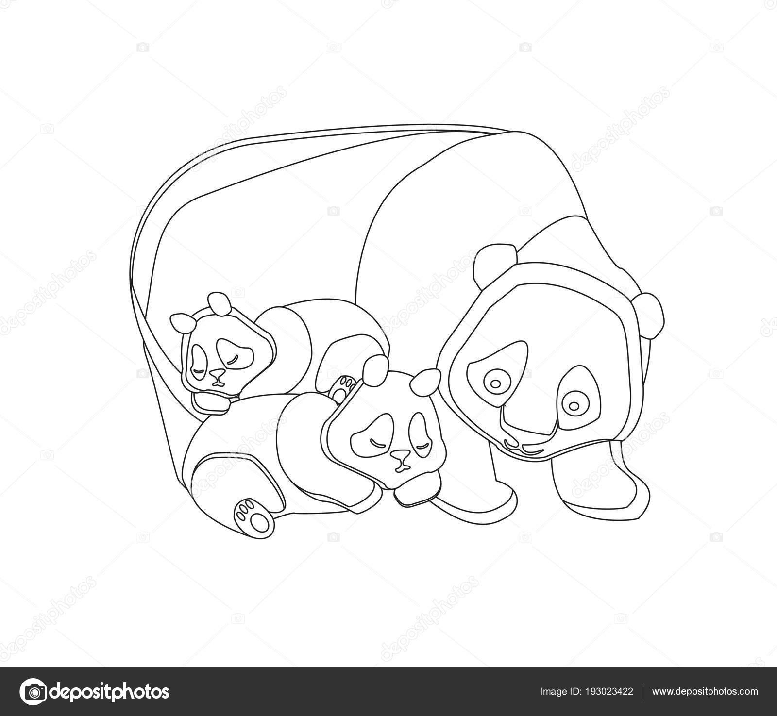 Coloriage Famille Animaux.Notion De Famille Heureuse Pour Coloriages Animaux Sauvages Sur Fond