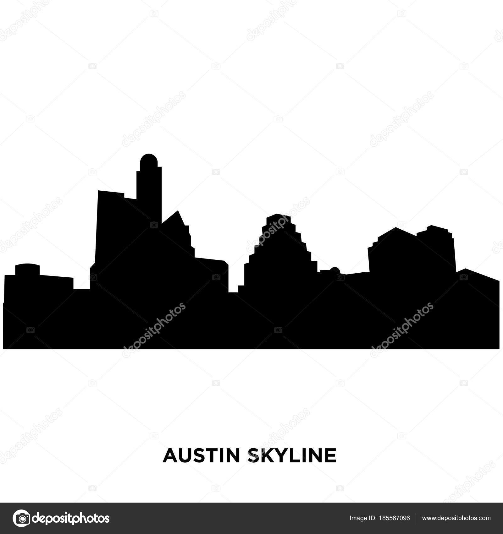 Austin skyline silhouette– stock illustration