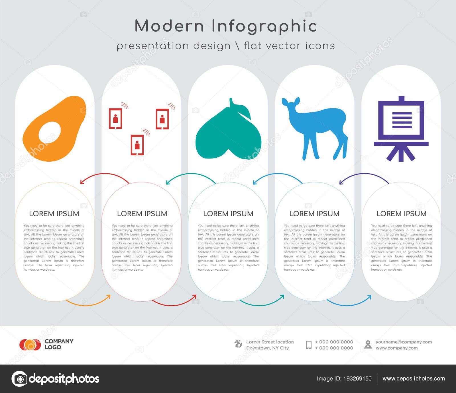 Infographics Design Vector Avocado Telecom Avocado Fawn Demo