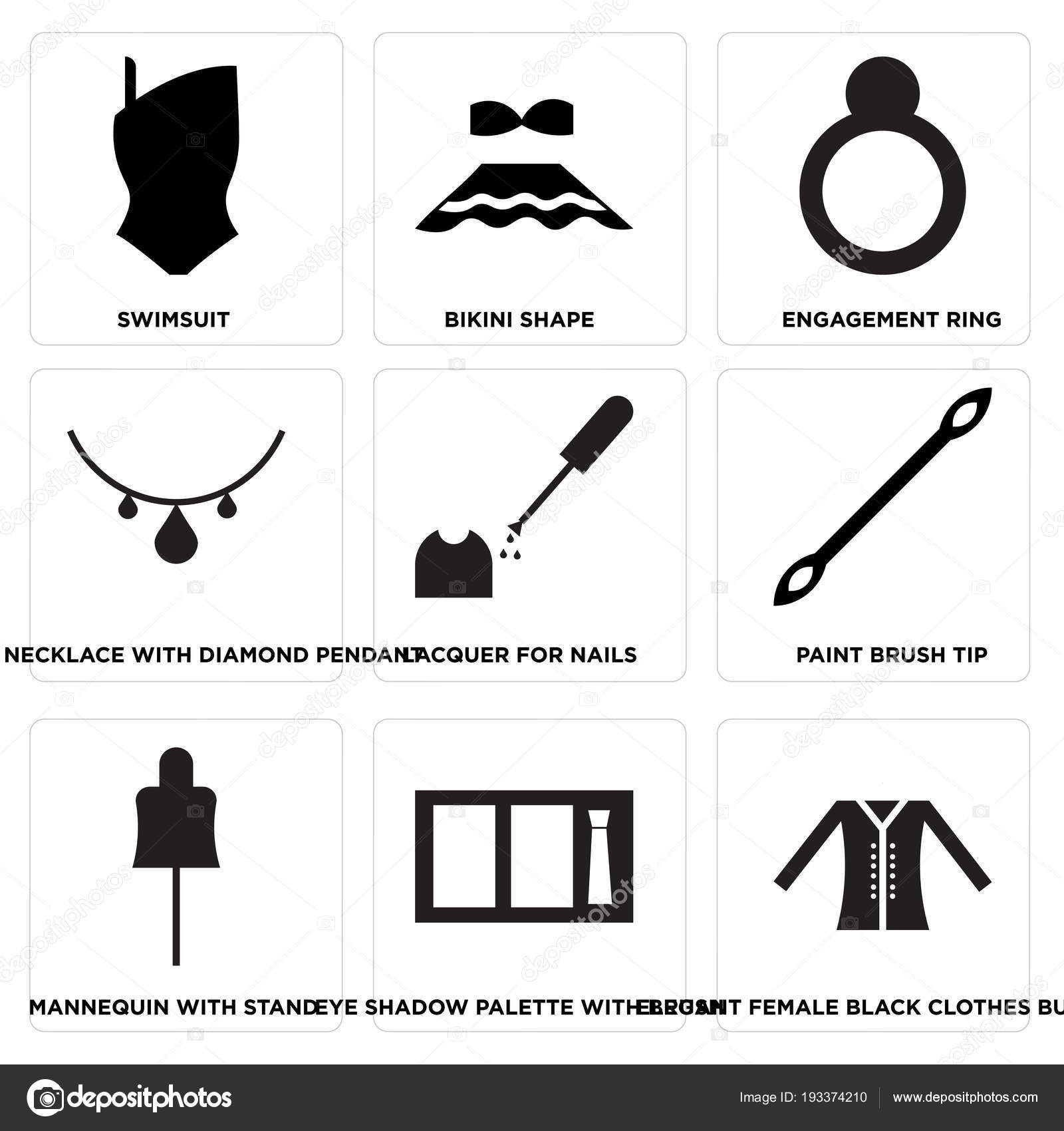 8002deded Állítsa Egyszerű Szerkeszthető Ikonok Mint Elegáns Női Fekete Ruha ...