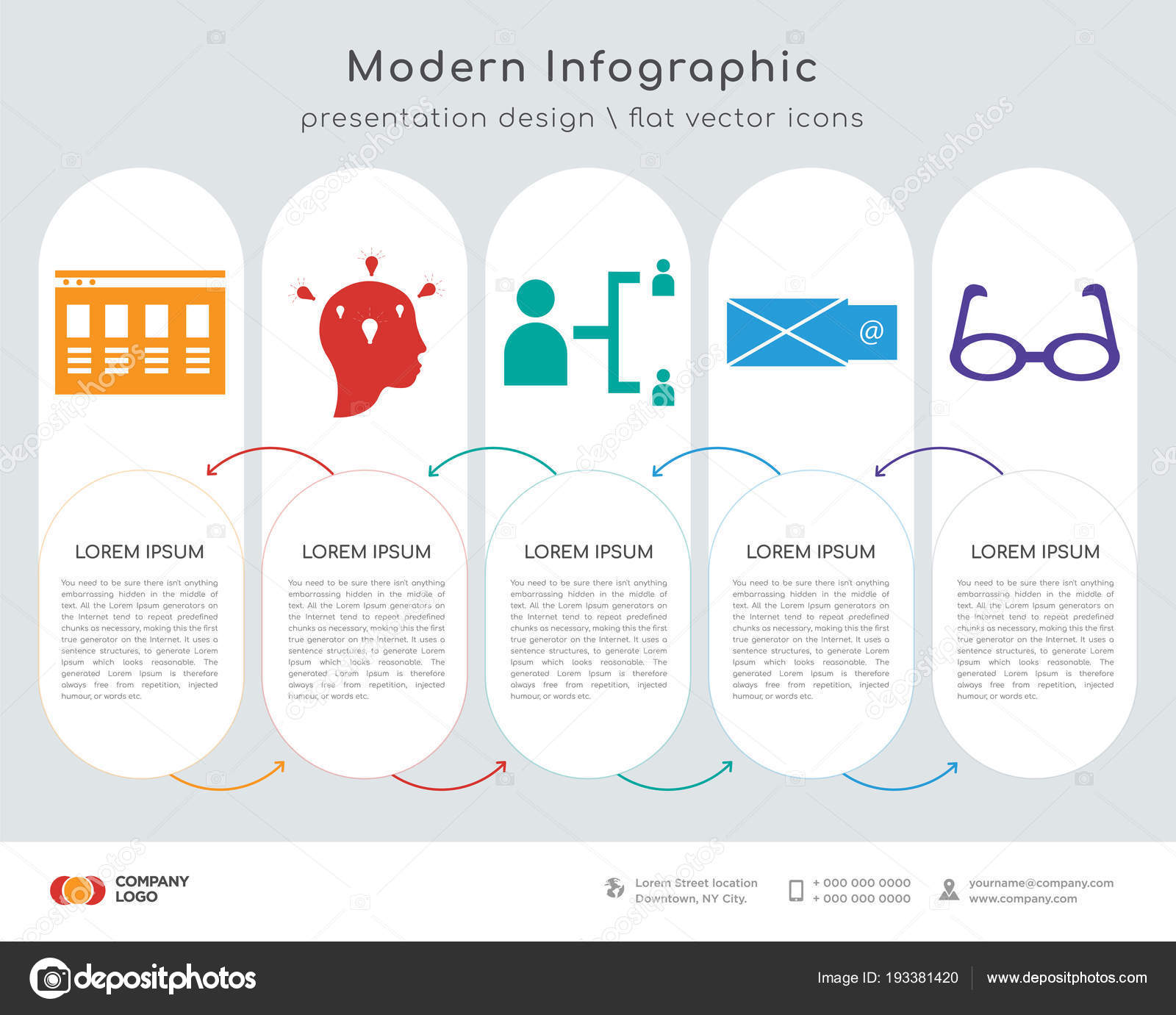 Infographics Design Vector Responsive Thinking Hierarchical