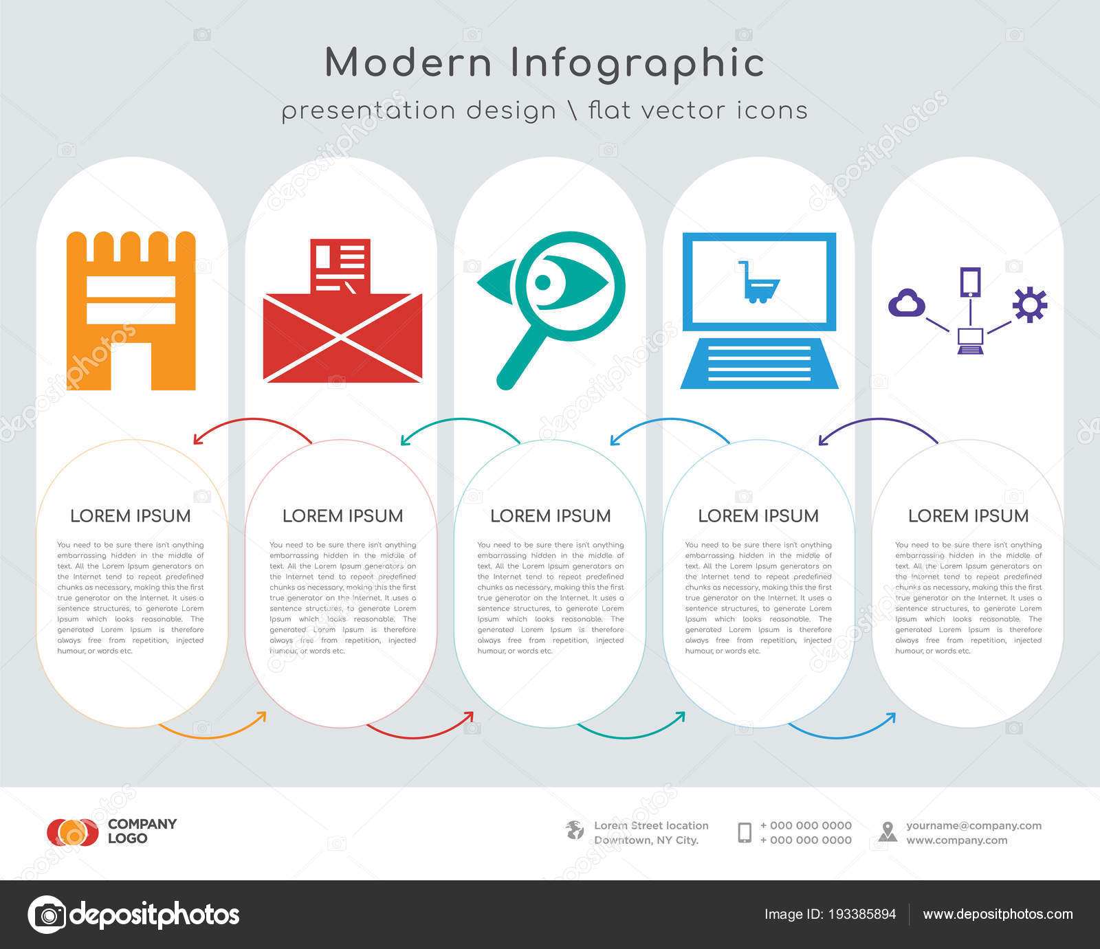Infografiken Gestalten Vektor Und Shop Email Suche Auf Ansprechende