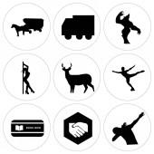 Set von 9 einfach editierbaren Symbolen