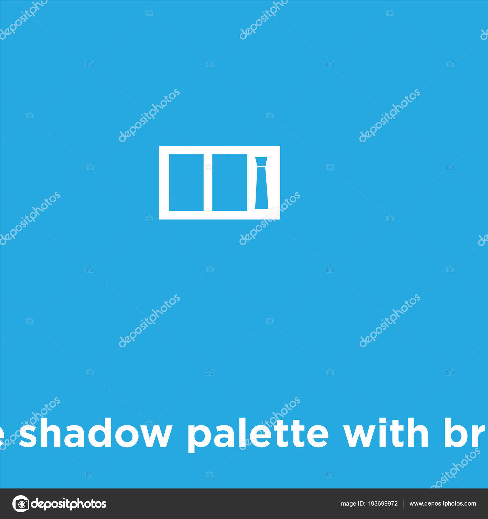 bd0d8b1efa Palette di ombretti con icona pennello isolato su priorità bassa blu–  illustrazione stock