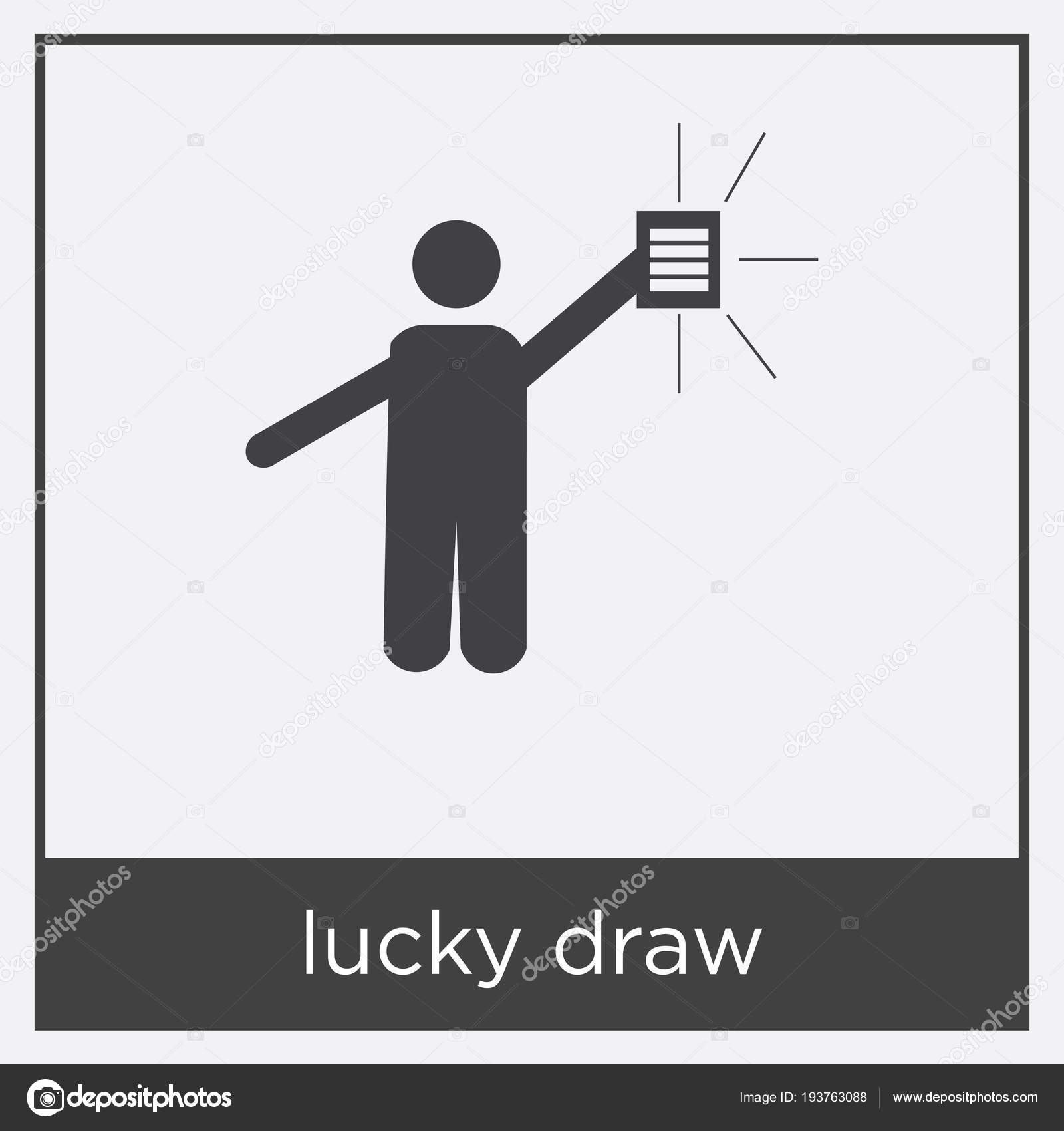 Lucky Draw Icon Isolated On White Background Stock Vector