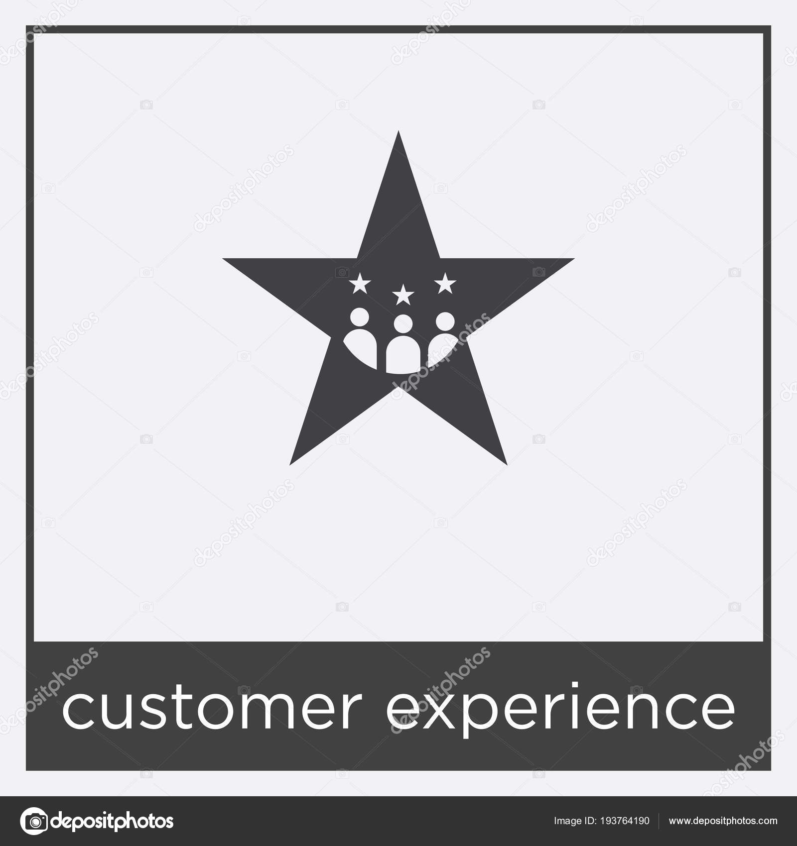 Customer Experience Icon Isolated On White Background With Black Border Vector By Sabinarahimova