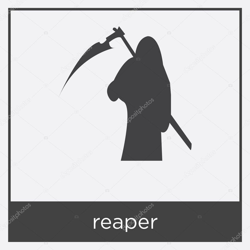 icono de Reaper aislado sobre fondo blanco — Archivo Imágenes