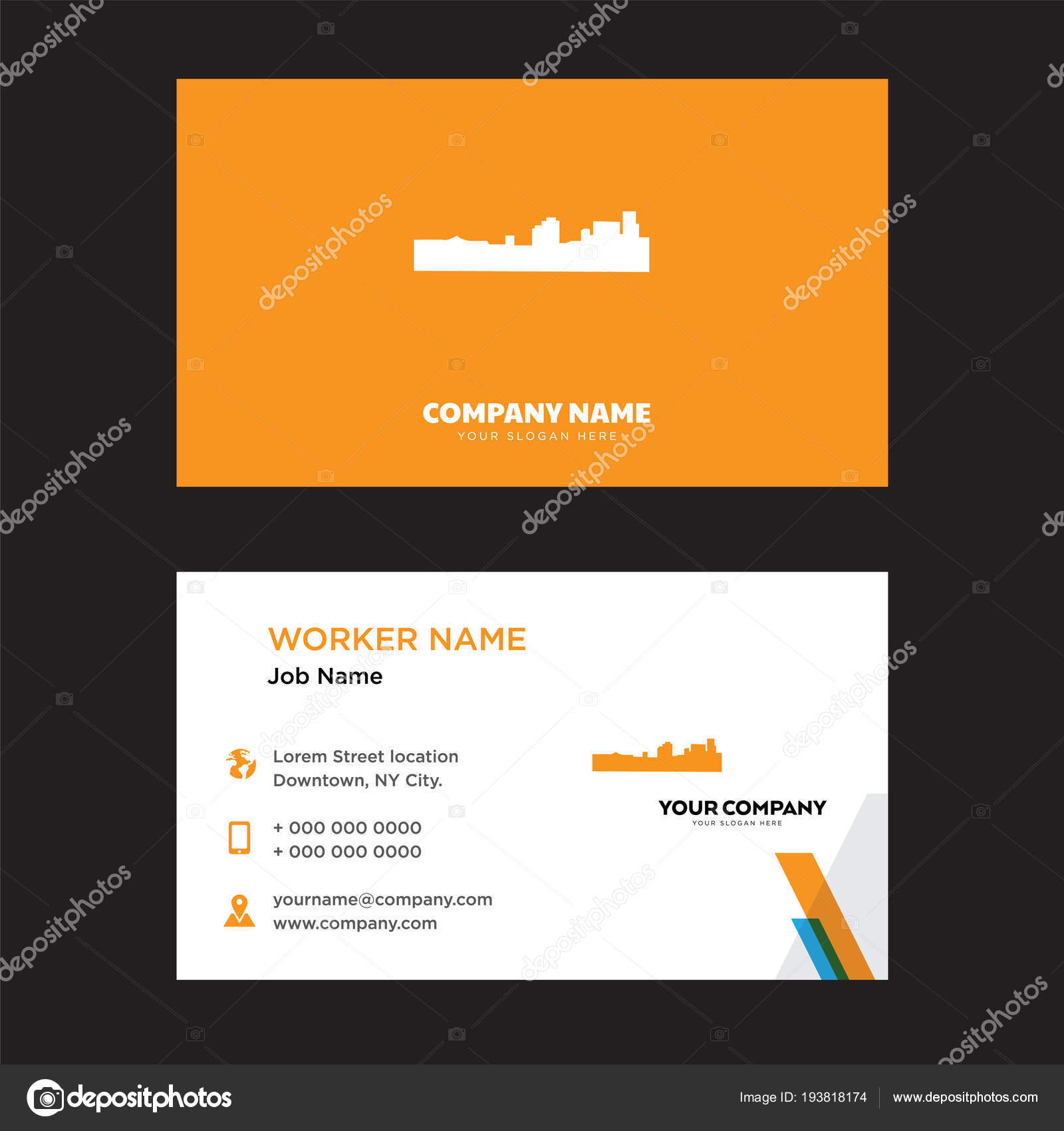 Black new orleans business card design stock vector black new orleans business card design template visiting for your company modern creative and clean identity card vector vector by sabinarahimova reheart Gallery