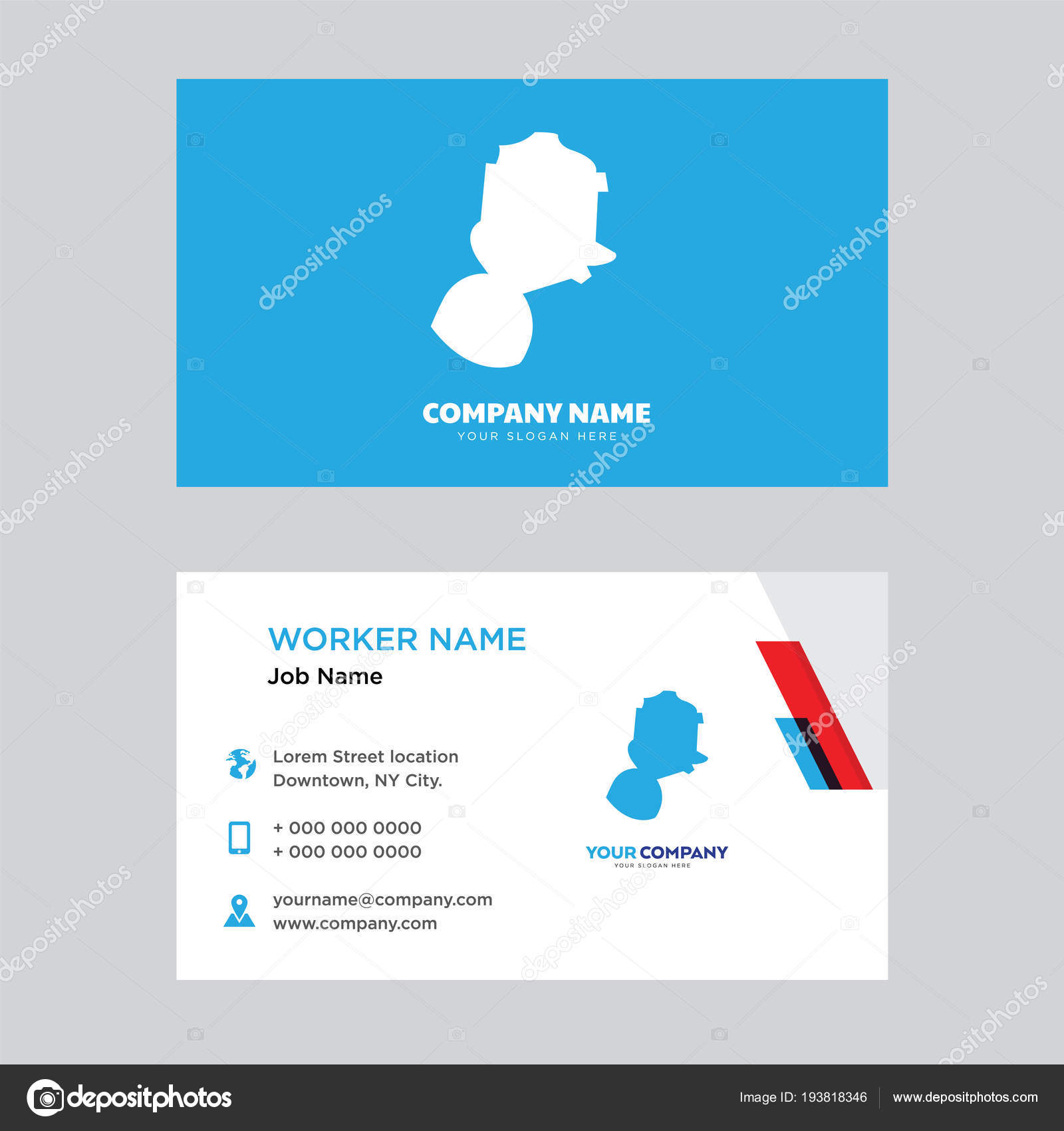 gas mask business card design — Stock Vector © vector_best #193818346