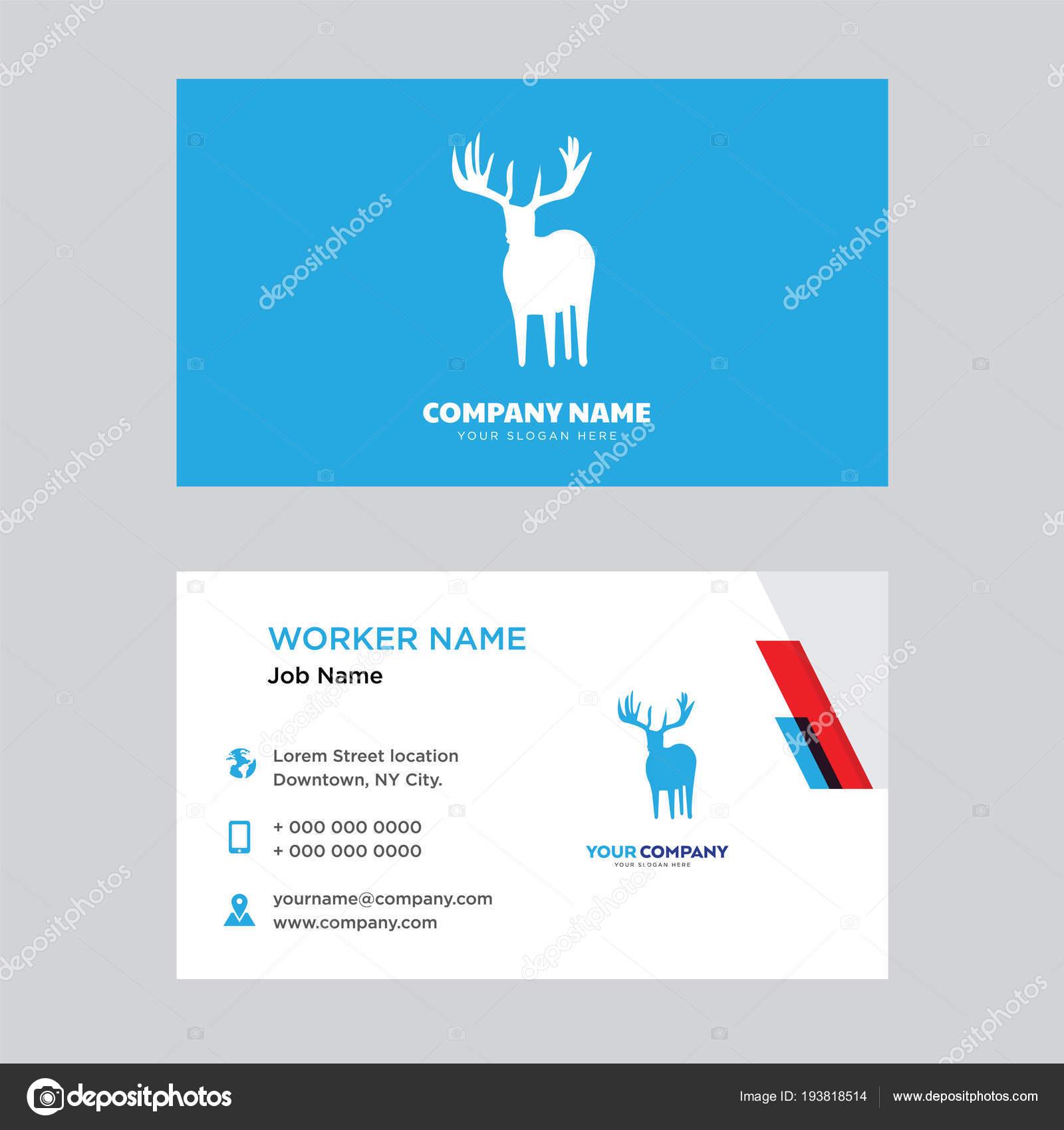 Cerf En Bois Carte De Visite Design Illustration Stock
