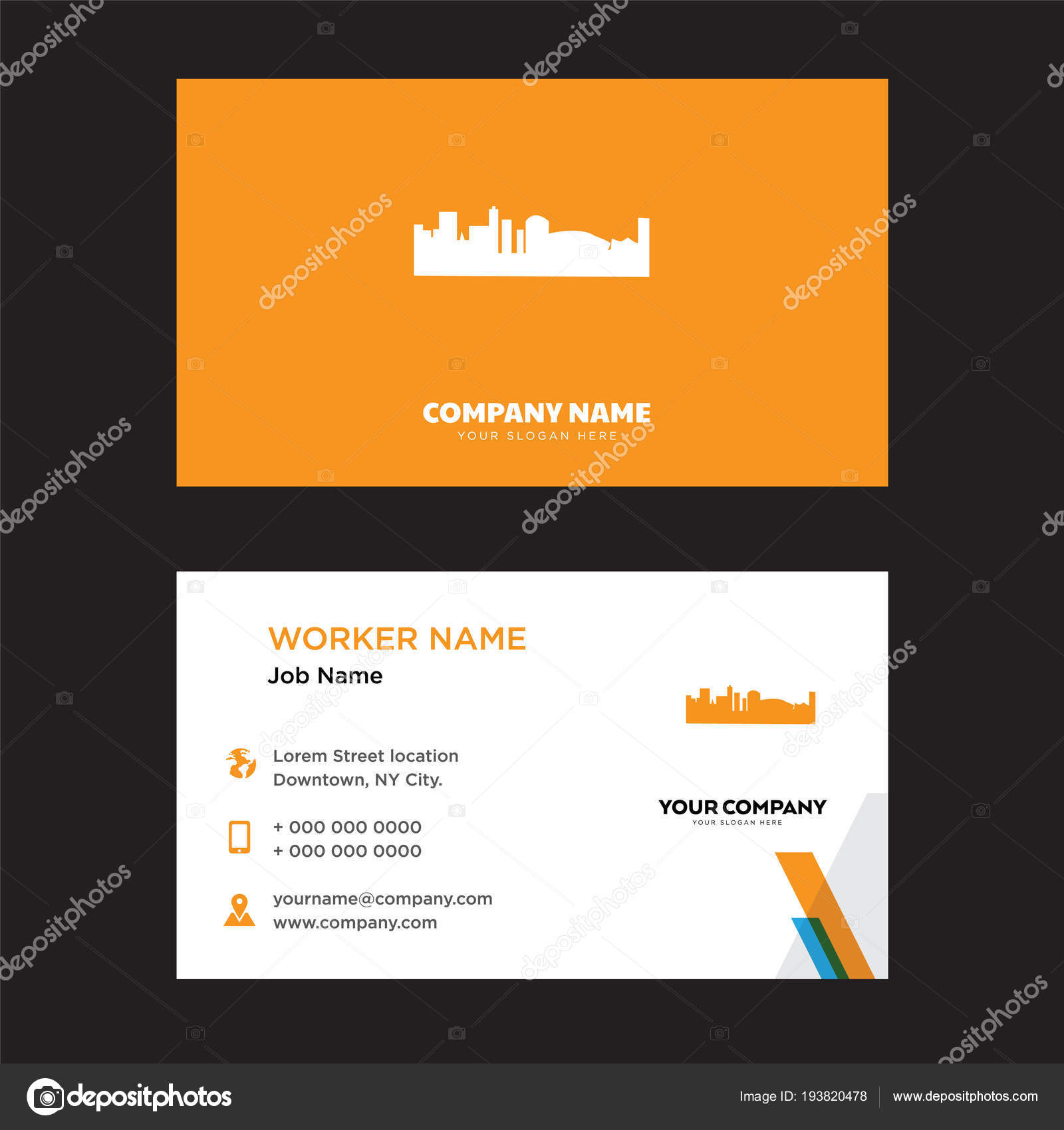 Black new orleans business card design stock vector vectorbest black new orleans business card design template visiting for your company modern creative and clean identity card vector vector by vectorbest reheart Images