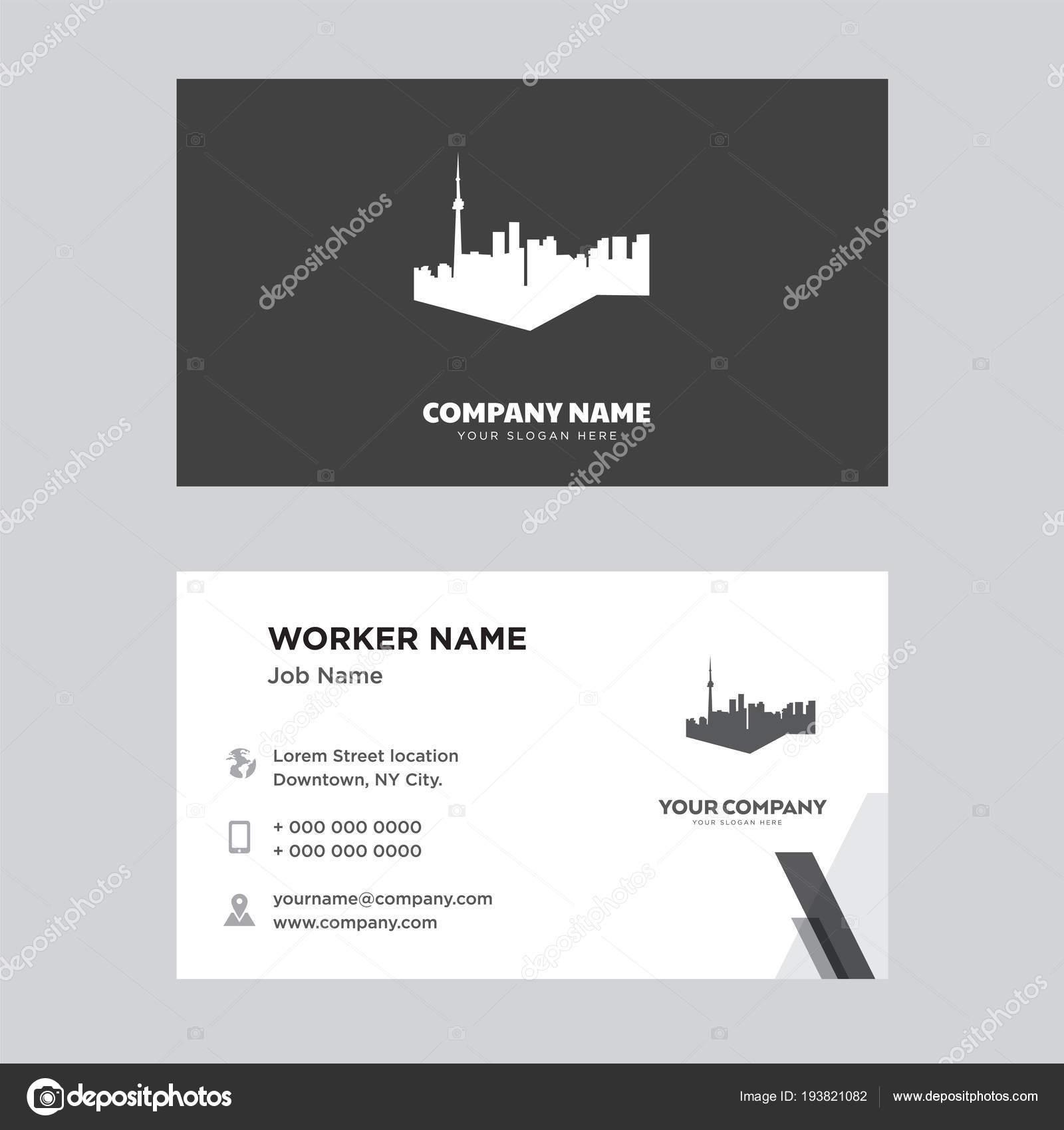 toronto sky business card design — Stock Vector © sabinarahimova ...