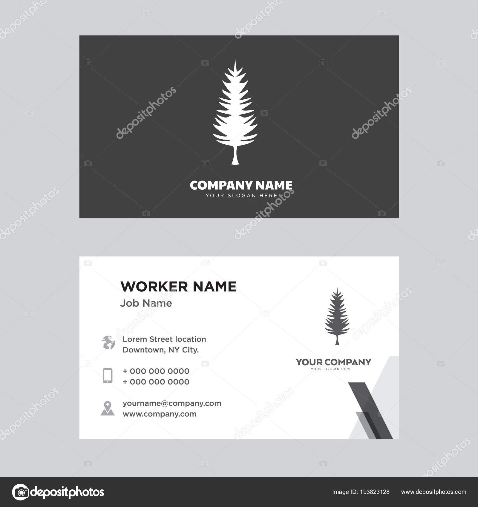 Tall pine tree business card design stock vector vectorbest tall pine tree business card design stock vector colourmoves