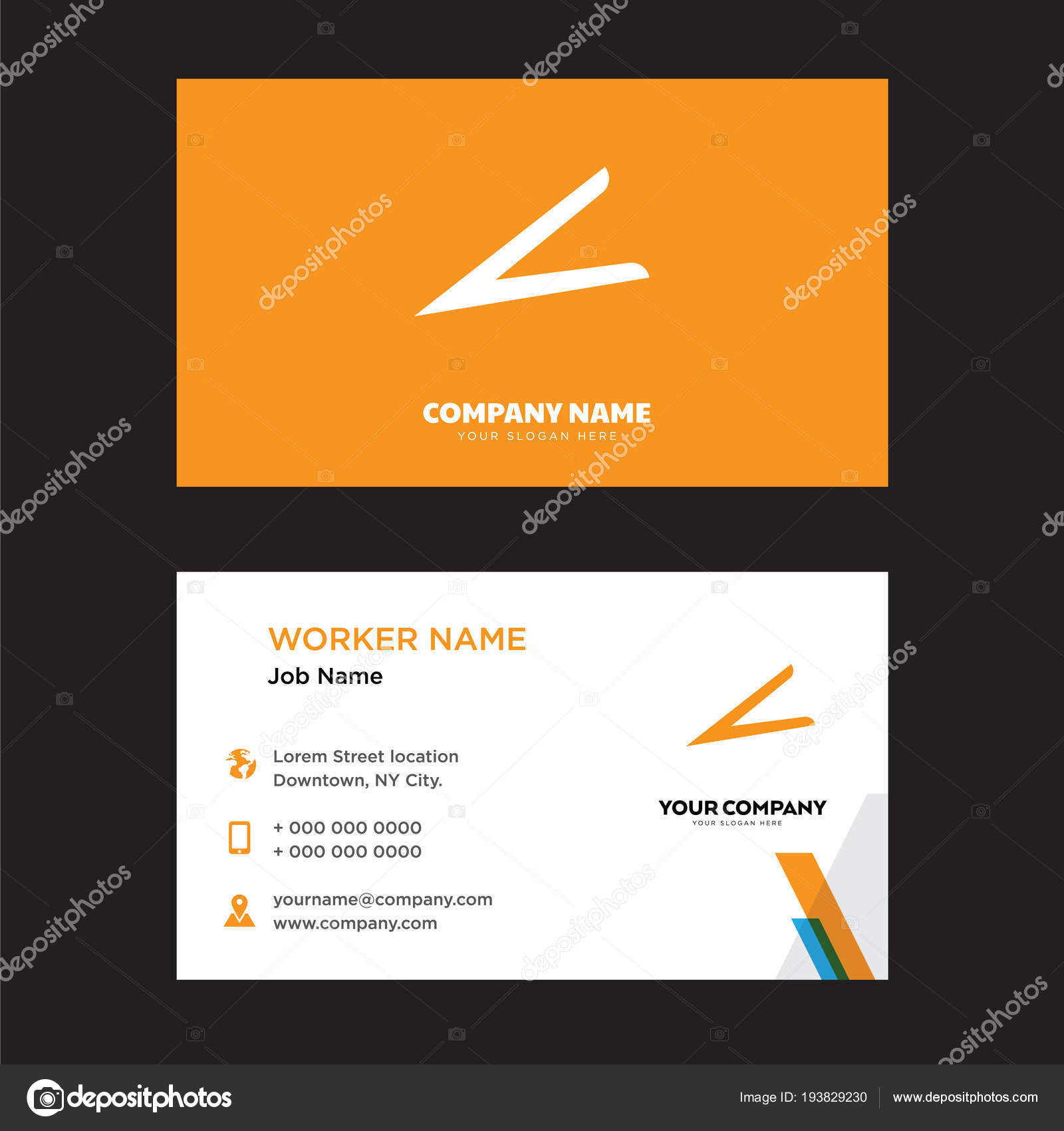 Hair Clip Tool Business Card Design Stock Vector Vectorbest