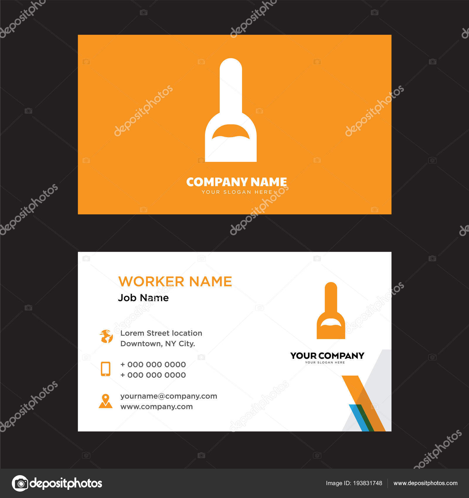 Hand Nägel Malerei Flasche Visitenkarten Design