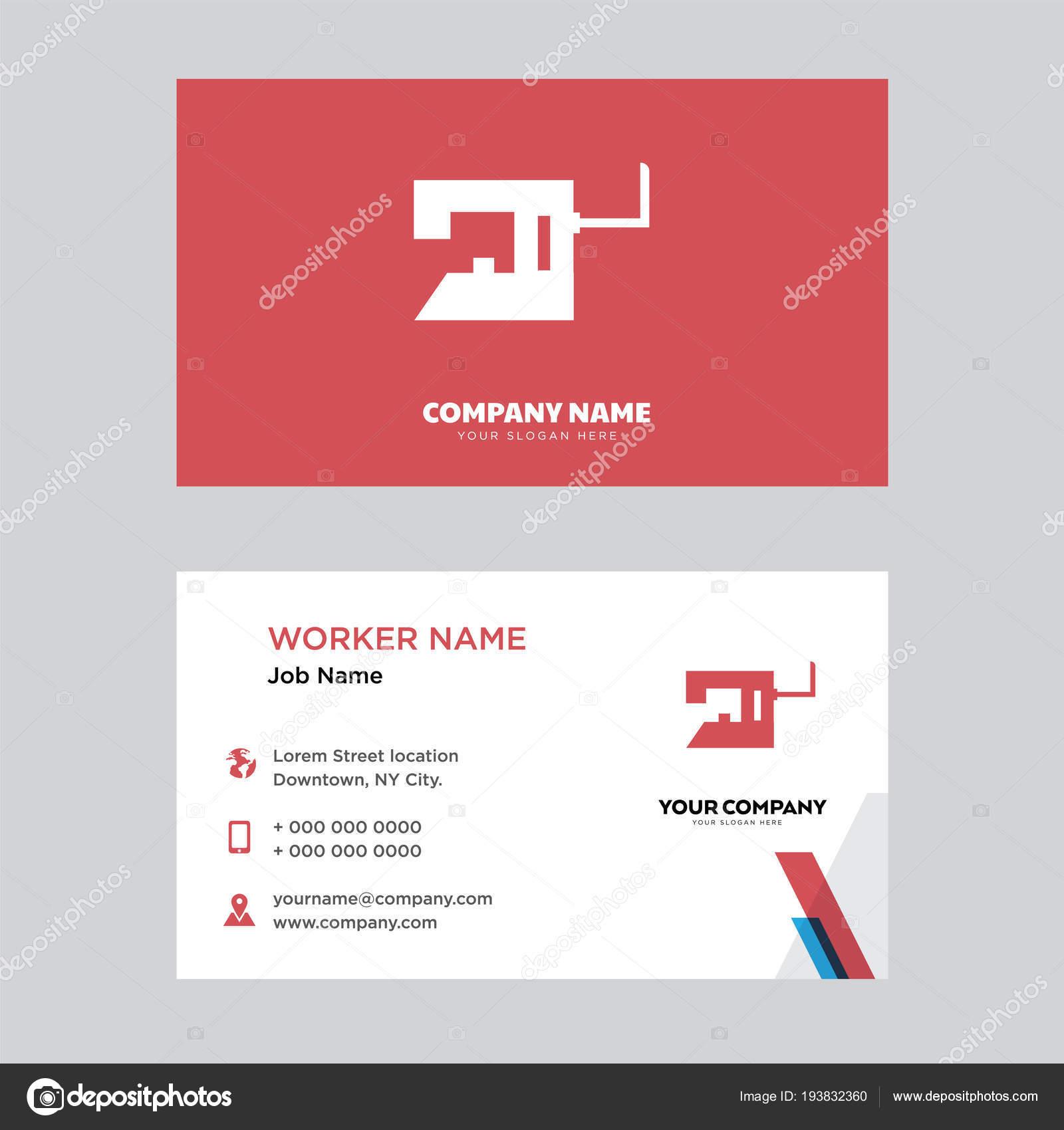 Classique Modle De Conception Carte Visite Machine Couture En Pour Votre Entreprise Moderne Crative Et Identit Propre Vectorielle