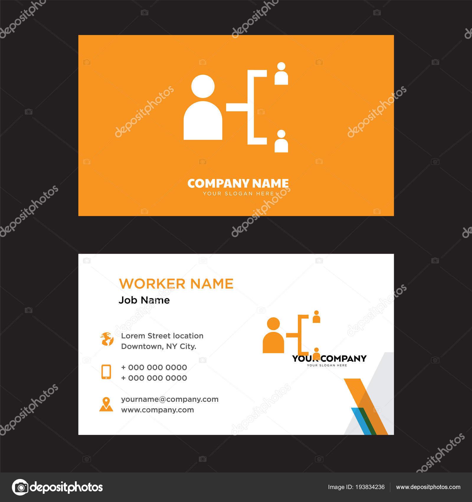Hierarchische Struktur Visitenkarten Design Stockvektor