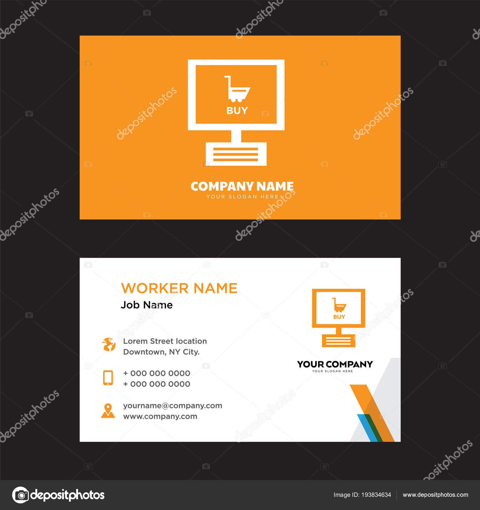 Smartphone business card design — Stock Vector © sabinarahimova ...