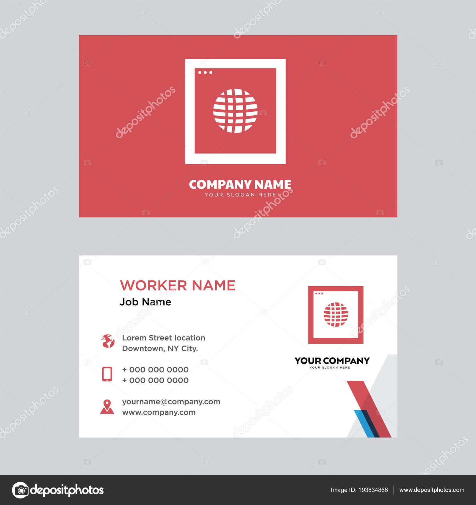 Internet business card design stock vector vectorbest 193834866 internet business card design stock vector colourmoves