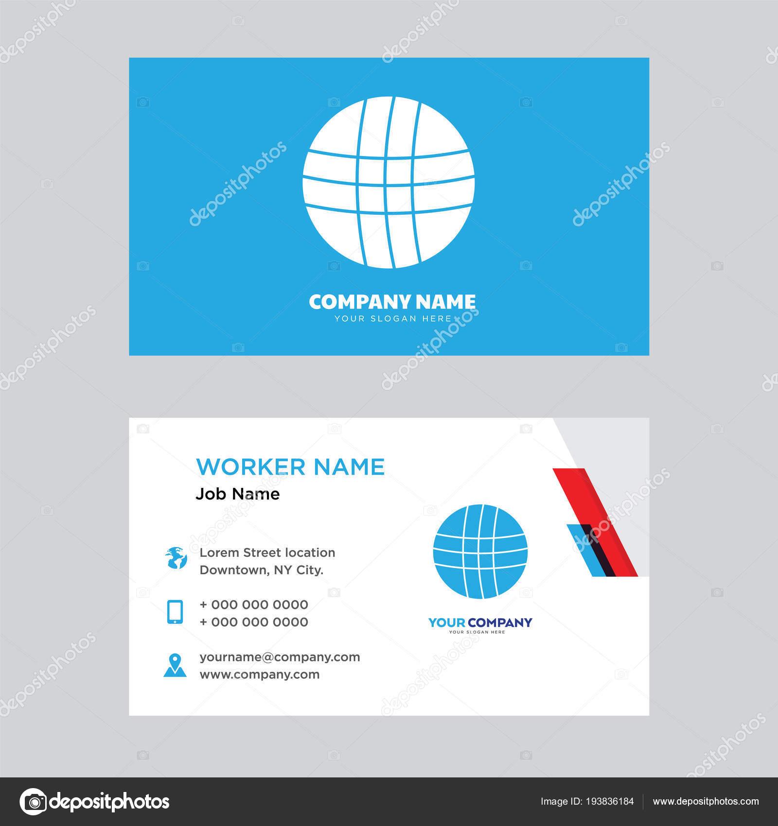Basketball business card design — Stock Vector © sabinarahimova ...