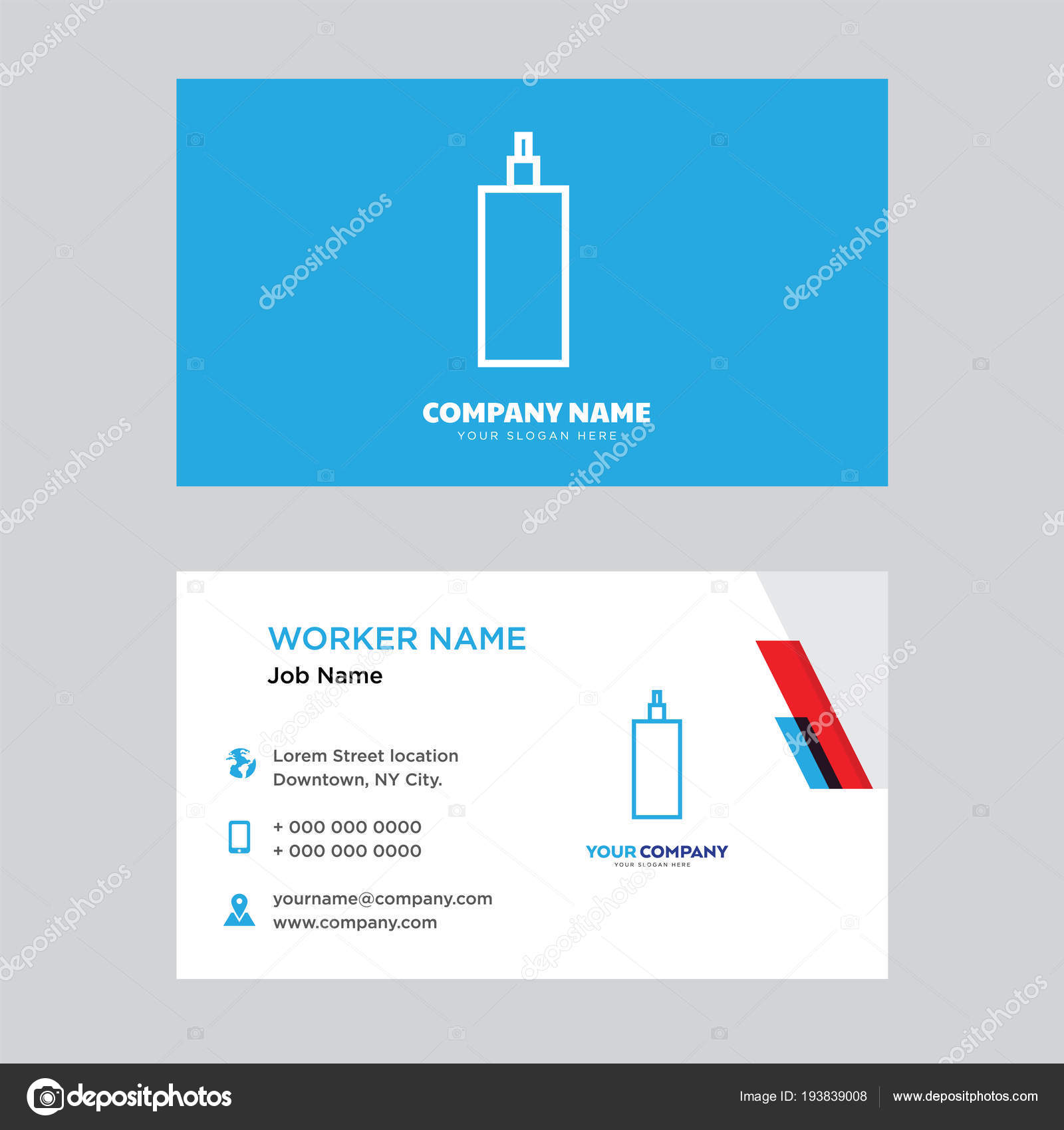 Water business card design stock vector vectorbest 193839008 water business card design stock vector colourmoves