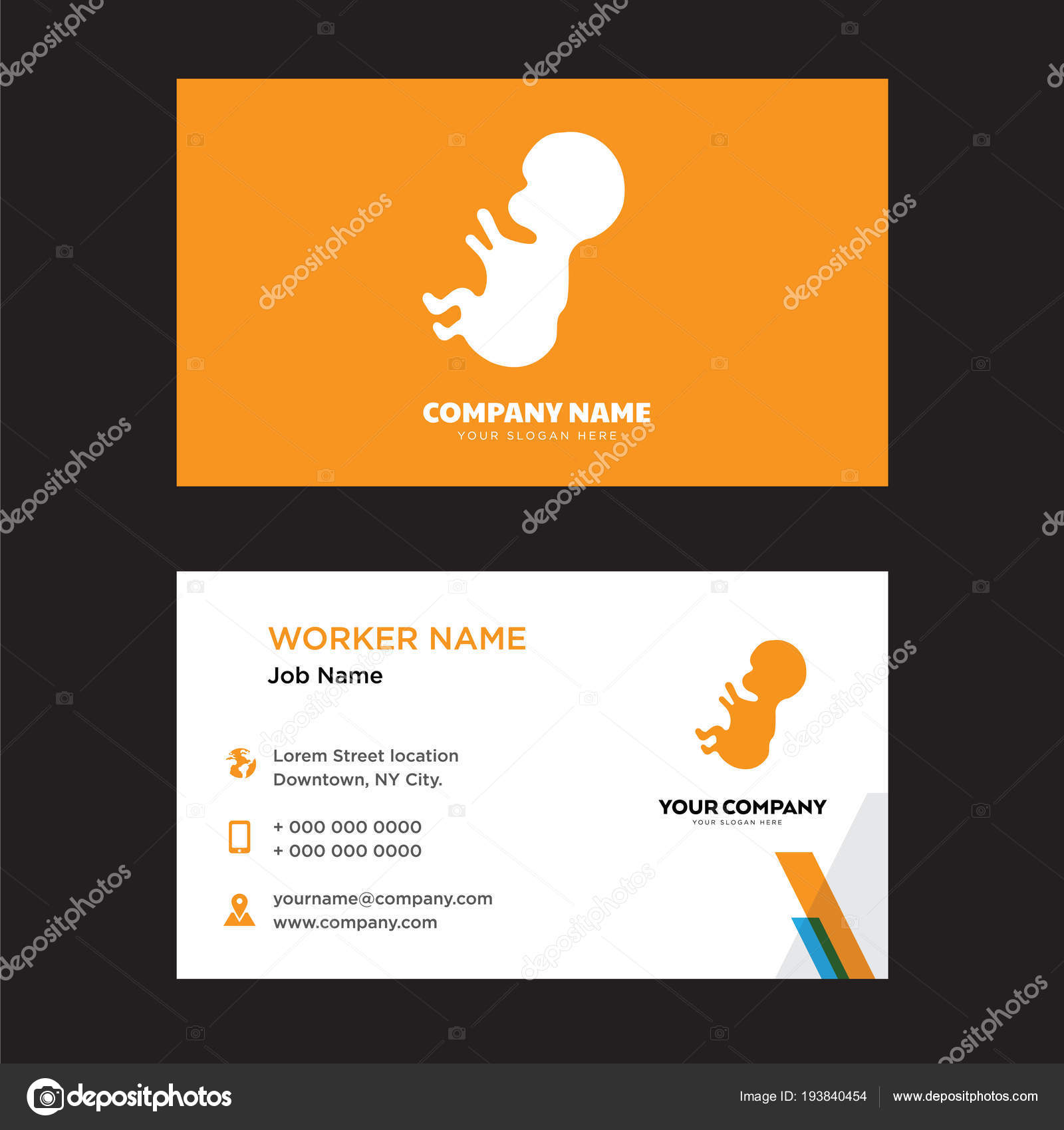 baby business card design — Stock Vector © sabinarahimova #193840454