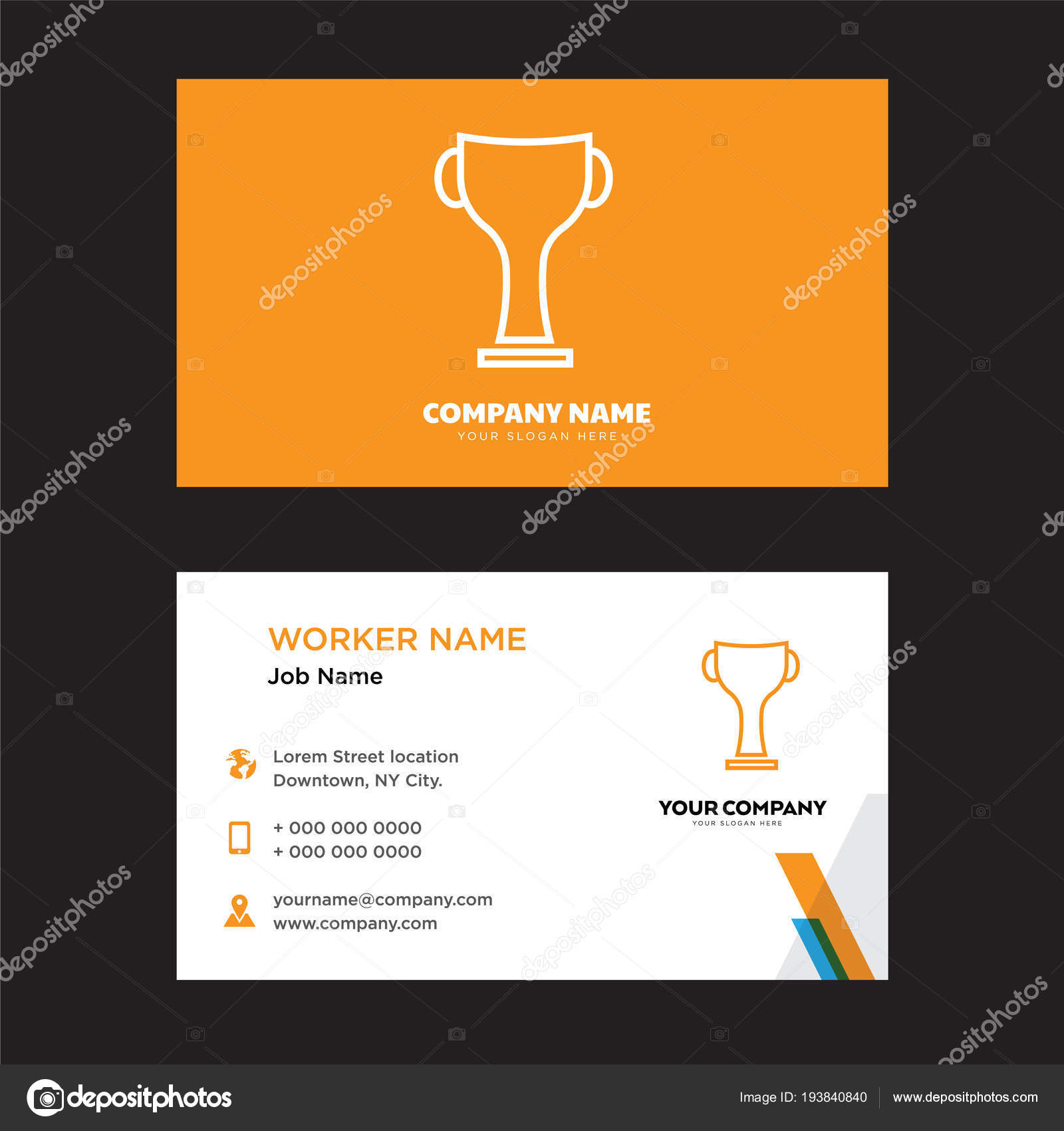 Winner award business card design stock vector vectorbest winner award business card design stock vector reheart Choice Image