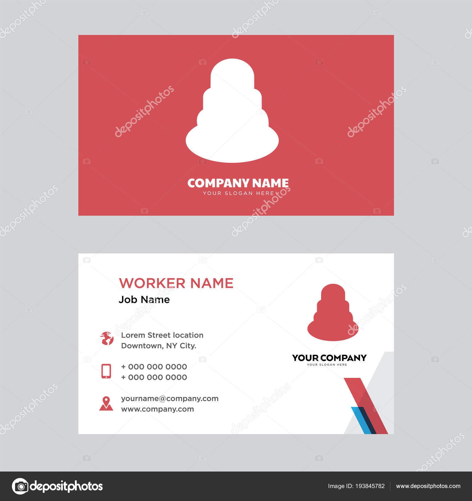 Cake Business Card Design Stock Vector C Vector Best 193845782