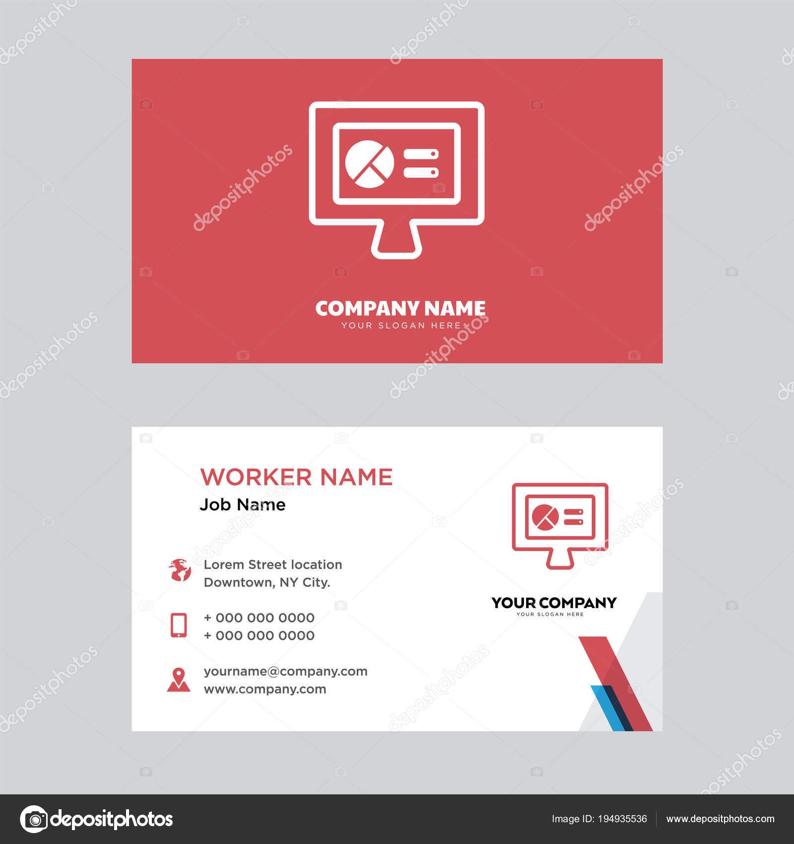 Conception De Sites Web Carte Visite Illustration Stock