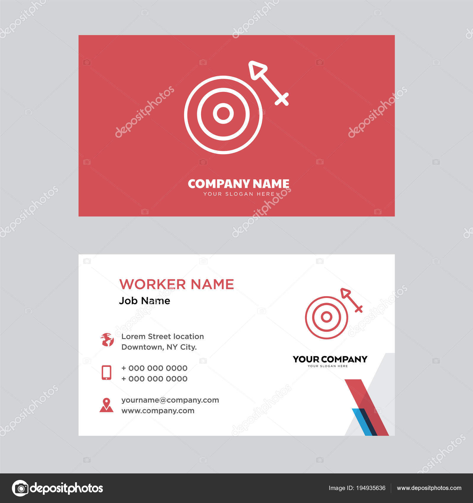 Target business card design stock vector vectorbest 194935636 target business card design stock vector colourmoves
